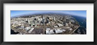 Framed Aerial view of a city, San Diego, California, USA