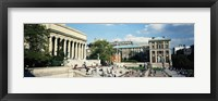 Framed Group of people in front of a library, Library Of Columbia University, New York City, New York, USA