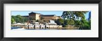 Framed Art museum at the waterfront, Philadelphia Museum Of Art, Schuylkill River, Philadelphia, Pennsylvania, USA