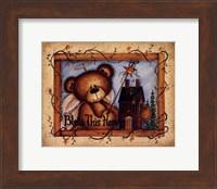 Framed Bless This Home (bear)