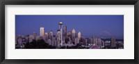 Framed Seattle Skyline
