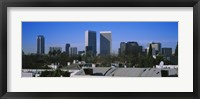 Framed Buildings and skyscrapers in a city, Century City, City of Los Angeles, California, USA