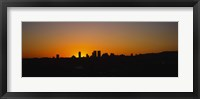 Framed Silhoiette Century City and Westside from Fairfax District, California, USA
