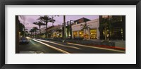 Framed Stores on the roadside, Rodeo Drive, Beverly Hills, California, USA