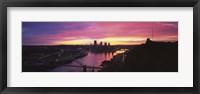 Framed Pittsburgh West End Bridge Sunset