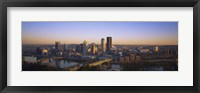 Framed Pittsburgh Buildings at Dawn