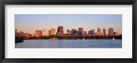 Framed Boston, Massachusetts skyline