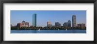 Framed Buildings at the waterfront, Back Bay, Boston, Massachusetts, USA
