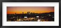 Framed High angle view of buildings in a city, Century City, City of Los Angeles, California, USA