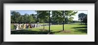 Framed Tourists at a memorial, Vietnam Veterans Memorial, Washington DC, USA
