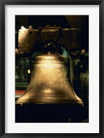 Framed Close-up of a bell, Liberty Bell, Philadelphia, Pennsylvania, USA