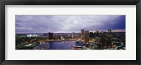 Framed Baltimore with Cloudy Sky at Dusk