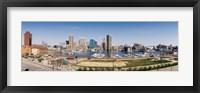 Framed Baltimore, Maryland skyline
