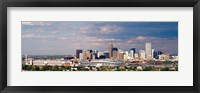 Framed Skyline with Invesco Stadium, Denver, Colorado, USA