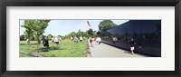 Framed People visiting the Korean War Memorial, Washington DC, USA