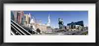 Framed Buildings in a city, New York New York Hotel, MGM Casino, The Strip, Las Vegas, Clark County, Nevada, USA