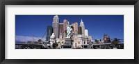 Framed Buildings in a city, New York New York Hotel, The Las Vegas Strip, Las Vegas, Nevada, USA