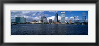 Framed Buildings at the waterfront, St. John's River, Jacksonville, Duval County, Florida, USA