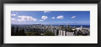 Framed Honolulu City Skyline