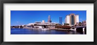 Framed Skyscrapers at the waterfront, Tampa, Florida, USA