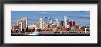 Framed Buildings at the waterfront, Delaware River, Philadelphia, Pennsylvania