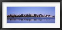 Framed Lake Monona and Madison Skyline,Wisconsin