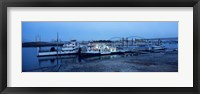 Framed Boats moored at a harbor, Memphis, Mississippi River, Tennessee, USA