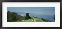 Framed Golf course at the coast, Torrey Pines Golf Course, San Diego, California, USA
