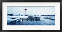 Framed City in winter, Coney Island, Brooklyn, New York City, New York State, USA