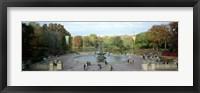 Framed Tourists in a park, Bethesda Fountain, Central Park, Manhattan, New York City, New York State, USA
