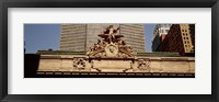 Framed High section view of a railroad station, Grand Central Station, Manhattan, New York City, New York State, USA