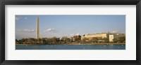 Framed Monument at the riverside, Washington Monument, Potomac River, Washington DC, USA