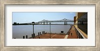 Framed Bridge across a river, Crescent City Connection Bridge, Mississippi River, New Orleans, Louisiana, USA