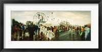 Framed People celebrating in Coney Island Mermaid Parade, Coney Island, Brooklyn, New York City, New York State, USA