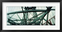 Framed Low angle view of a suspension bridge, Williamsburg Bridge, New York City, New York State, USA