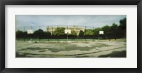 Framed Basketball court in a public park, McCarran Park, Greenpoint, Brooklyn, New York City, New York State, USA