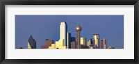 Framed Dallas Skyline with Skyscrapers