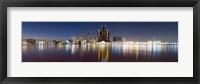 Framed Detroit River at Dusk, Detroit, Michigan