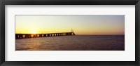 Framed Bridge at sunrise, Sunshine Skyway Bridge, Tampa Bay, St. Petersburg, Pinellas County, Florida, USA