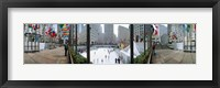 Framed 360 degree view of a city, Rockefeller Center, Manhattan, New York City, New York State, USA
