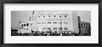 Framed People outside a baseball park, old Comiskey Park, Chicago, Cook County, Illinois, USA