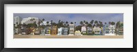 Framed Houses on the beach, Santa Monica, Los Angeles County, California, USA