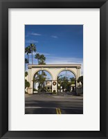 Framed Entrance gate to a studio, Paramount Studios, Melrose Avenue, Hollywood, Los Angeles, California, USA