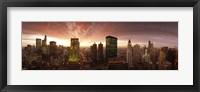 Framed Sunset cityscape Chicago IL USA