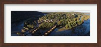 Framed High angle view of a town, Harpers Ferry, Jefferson County, West Virginia, USA