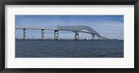 Framed Bridge across a river, Francis Scott Key Bridge, Patapsco River, Baltimore, Maryland, USA