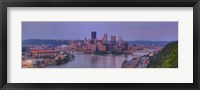 Framed City viewed from the West End at Sunset, Pittsburgh, Allegheny County, Pennsylvania, USA 2009