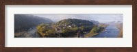 Framed Aerial view of an island, Harpers Ferry, Jefferson County, West Virginia, USA