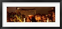Framed Hotel lit up at night, Wynn Las Vegas, The Strip, Las Vegas, Nevada, USA