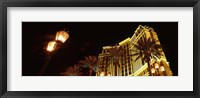 Framed Low angle view of a hotel lit up at night, The Strip, Las Vegas, Nevada, USA